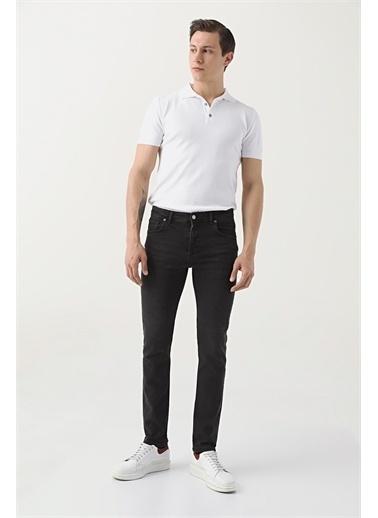 D'S Damat Ds Damat Slim Fit Siyah Düz Denim Pantolon Siyah